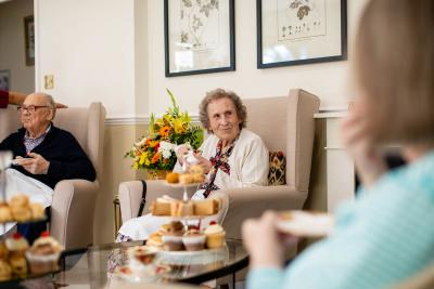 Afternoon tea at Stone House nursing care home