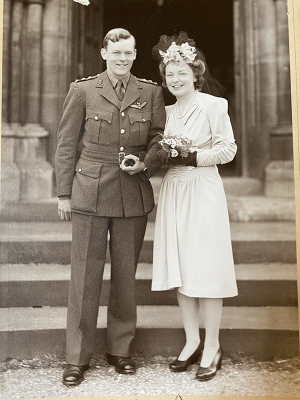 Yvonne Bray - Wedding to Captain John Bray of the Royal Artillery - Peverel Court Care Stone House Nursing Care Home in Aylesbury, Buckinghamshire